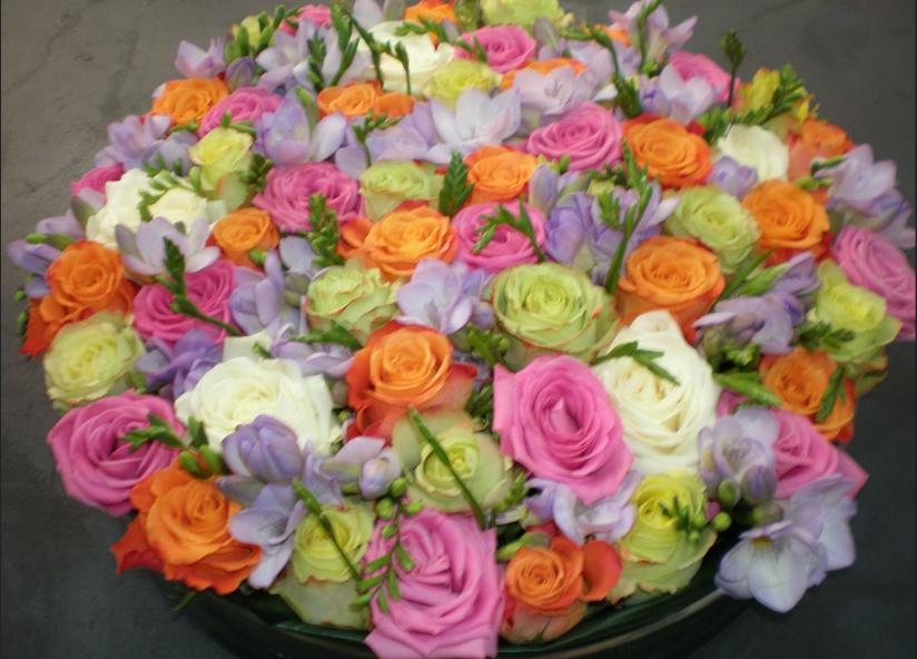 creation bouquet roses st tropez